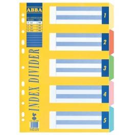 ABBA A4 5 Part HD Paper Divider