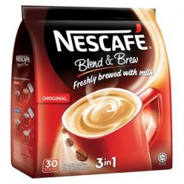 Nescafe 3 in 1 Original Blend & Brew Premix Coffee 30sticks x 20g